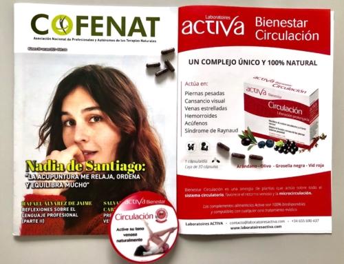 Nuestro Bienestar Circulación en primera página en la revista COFENAT